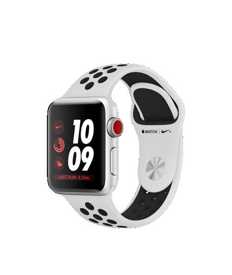 apple watch nike Boitier aluminium argent Boucle Sport Nike Cramoisi brillant Noir