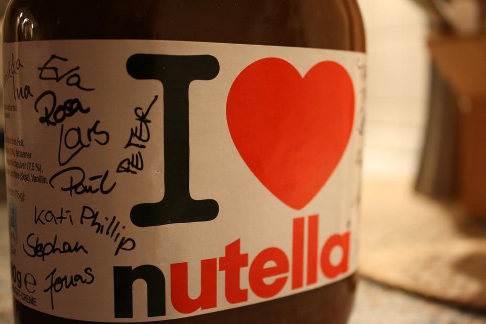 nutella, chocolat, petit déjeuner