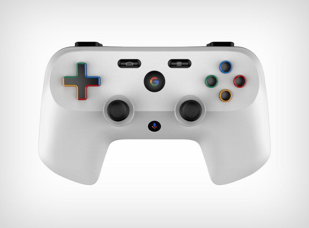 Gamepad google vue du dessus