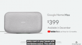Google home max – made with google