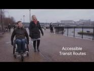 Google propose des itinéraires en chaise roulante #a11y #googlemaps